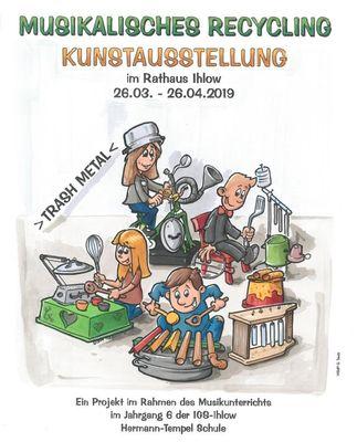 Das Plakat zur Ausstellung: Musikinstrumente aus Schrott