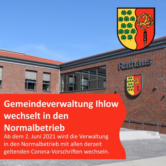 Gemeindeverwaltung Ihlow wechselt in den Normalbetrieb