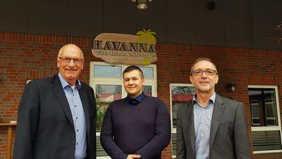 Bürgermeister Börgmann, Gastronom Andreas Matyjaszczyk und EDI-Geschäftsführer Martin Hepp