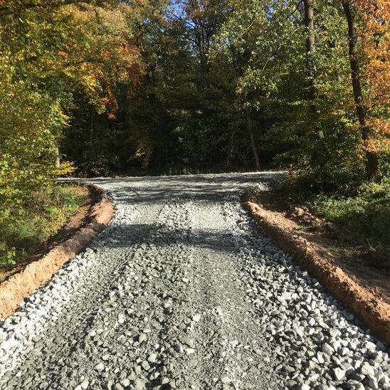 Aufbereitung der Wege im Ihlower Forst
