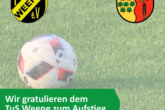 TuS Weene ist in die Bezirksliga aufgestiegen