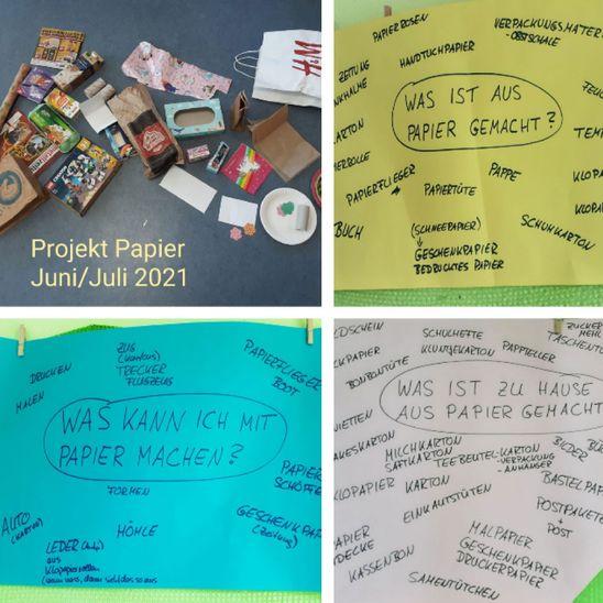 """Kindergarten Kornblume: Projekt """"Papier"""""""