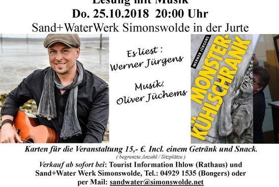 Sänger Oliver Jüchems und Autor Werner Jürgens