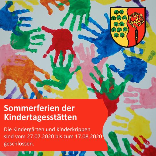 Sommerferien der Kindertagesstätten