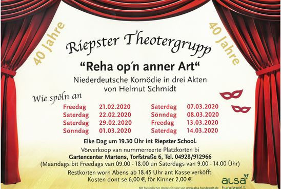 Aufführungen der plattdeutschen Theatergruppe Riepe