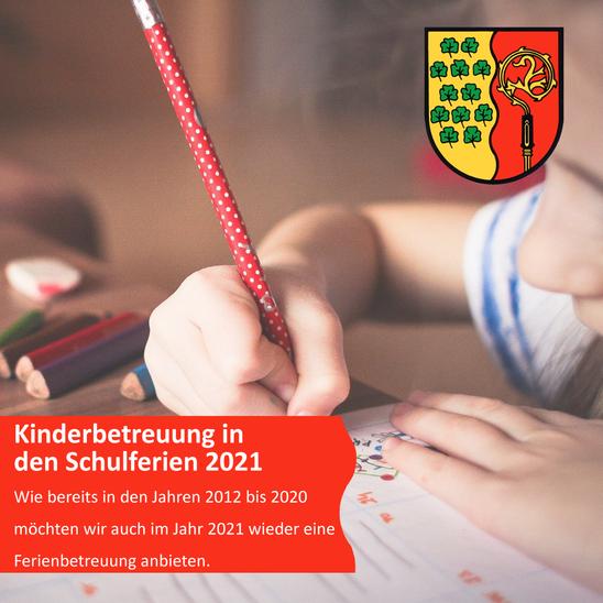 Kinderbetreuung in den Schulferien 2021