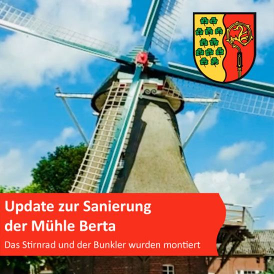 Kurzes Update zur Sanierung der Mühle Berta