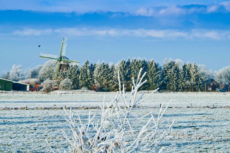 Mühle Berta im Winter
